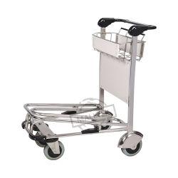 L'aéroport populaires de niveau 2 de l'aéroport en acier inoxydable de passagers Bagages chariot à bagages