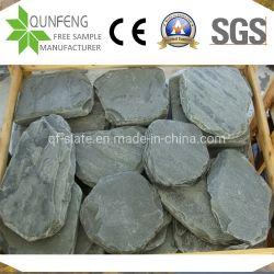 أسود طبيعي مرتخي الحجر المقلوب الحجر المقلوب غير منتظم الشكل الرصف