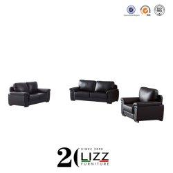 Promotion Haut de grain salle de séjour en cuir véritable accueil Sectinal Canapé 1+2+3 Set de meubles