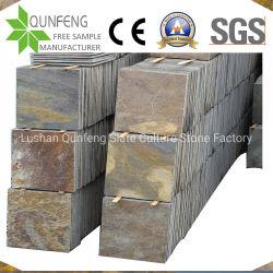 Pavimentazione arrugginita naturale dell'ardesia di prezzi bassi per le mattonelle parete esterna/del lastricatore