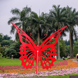 Giant Garden Insect Outdoor Metal Sculpture Stainless Steel Butterfly for Landschap