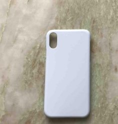 3D Sublimação Pet Virgem Imprimir cor branca para iPhone Xs Max fosco) Caso de Telefone
