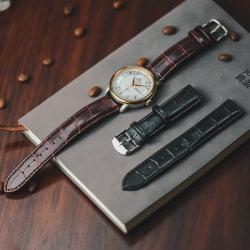 حزام ساعة Retro PU مع نمط جلدي من Slub