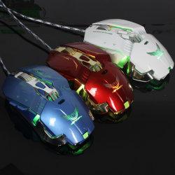 アマゾンLEDライトを持つ熱い販売法3200dpiのゲームマウス7D USBの高品質の工場価格の光学ワイヤーで縛られた賭博マウス