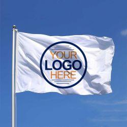 卸し売りカスタムロゴデザインフラグポリエステルはシャフトカバー真鍮のグロメットの旗のフラグと印刷した