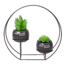 Plantadeira de cerâmica de metal decoração criativa Pot Vasos Plantadeiras