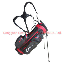 Black and Red 7 Dividers Borsa da golf leggera impermeabile Borsa per supporto