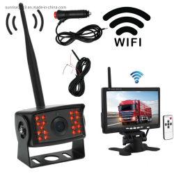 كاميرا لاسلكية رقمية للسيارة تعمل بالأشعة تحت الحمراء بدقة 1080p عالية الجودة مع شاشة