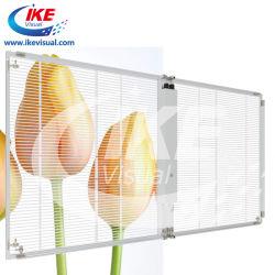 شاشة LED شفافة مع إضاءة عالية شفافة لمؤشر إطار زجاجي حائط ستارة شاشة LED خارجية لشاشة العرض الإعلانية