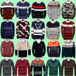 Pullover en tricot Style Mix hommes avec manches longues Stock (H19-16)