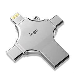 2020 Nieuwste 4 in 1 Stok USB van de Aandrijving OTG van het Geheugen van de Aandrijving van de Flits USB3.0 OTG voor Ios van de Appel Androïde Type C, Androïde Adapter 8g/16g/32GB/64GB