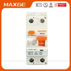 Interruttore automatico di dispersione di terra RCCB 2p/4p 16A-80A 10mA-300mA 6ka/10ka con certificazione Kema, VDE e CE