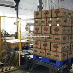 자동 75% 알코올 손 살균기 화장품 액체 세제 병 유리 용기 병 캔카톤 포장 기계 카르톤 팔레티저