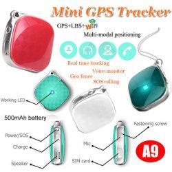 Pendente personale molto piccolo dell'inseguitore di GPS GSM GPRS con il programma reale che posiziona A9