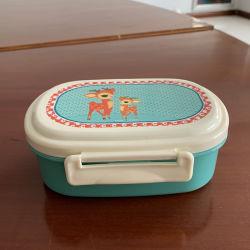 Plástico OEM Louça de armazenagem de géneros alimentícios Kids Lancheira Bento para um piquenique com a colher