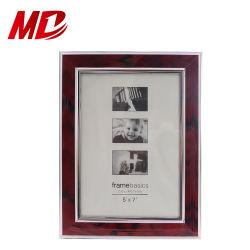 Commerce de gros 5*7'' Garniture Argent en PVC rouge Cadres Photo de l'image