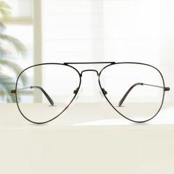 2019 Prêts de biens à double pont Rim ronde Vintage Retro Ray châssis métallique de forme de bande optique Lunettes Les lunettes