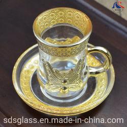 Des Vergoldungcup-u. Saucer-60ml kleine überzogene Kaffee-Sets Drinkware
