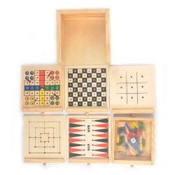 Madeira de brinquedos educativos Kids mini-jogo gamão Viagem Ludo jogo de tabuleiro de madeira