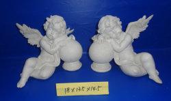 Beeldhouwwerk van de Engel van de Decoratie van het Huis van de Engel van de Engel van de Ambachten van de hars het Witte Unieke
