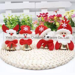Parte de la decoración del árbol de Navidad Santa Claus Moose Muñeco de Nieve La artesanía de Navidad Colgante Hecho a mano la campana de Metal Jingle Bells