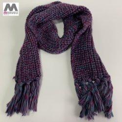 Fils torsadés colorés tricoté écharpe à chaud