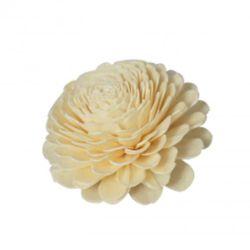 8 cm di fiori di legno di sola