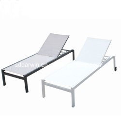 Moderno mobiliário de exterior Jardim Piscina linga de alumínio Chaise Lounge