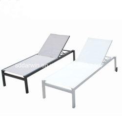 Moderner im Freienmöbel-Gartenpoolside-Aluminiumriemen-Wagen-Aufenthaltsraum