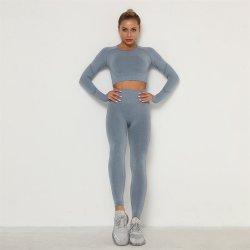 Yoga Kleding Set Sportpak Vrouwen Sportswear Sportkleding Fitness Set Long Sleeves Gym Seamless Workout Clothes for Women