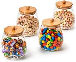 1000ml ronda tarros de cristal decorativas de cocina bote hermético Contenedor de almacenamiento de alimentos establecido