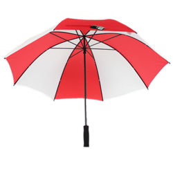 28-дюймовый двойной ребер поле для гольфа зонтик с прямой рукояткой