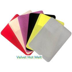 Лучшая цена бархатной ткани-расплава клея-расплава для ноги отшелушивающей подушечкой материалы