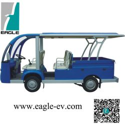 Voiture de tourisme électrique de 6 Seater avec la boîte arrière de cargaison, CE approuvé