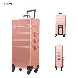 Koncaiのベストセラーの4 In1アルミニウム圧延の道具箱の専門の構成のトロリートレインケース