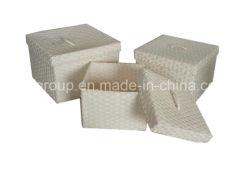 De Alta Calidad Ecológica personalizados hechos a mano Cesta de la paja en diferentes tamaños de