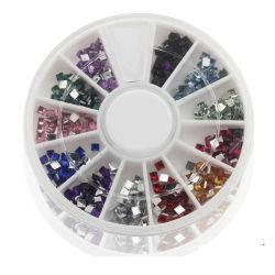 Misture unhas 3D a cores decorações Arte formas de Diamante Rhinestones acrílico
