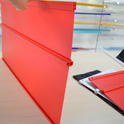Красный пластиковый держатель знака дисплея (HIPS-5001)