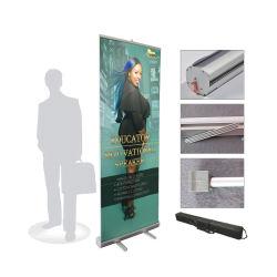 85*200cm de ancho de lujo de aluminio de la base de Banner Roll up Expositor con tela impresión, la exposición tire Banner