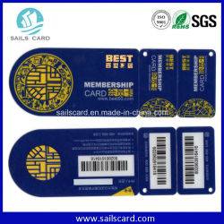 Carte en PVC non standard/clé Tag Code à barres