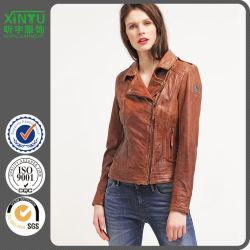 Veste d'hiver populaire Vintage Fashion femmes Manteau de pu personnaliser et de la conception de logo fabriqués en Chine de bonne qualité prix bon marché