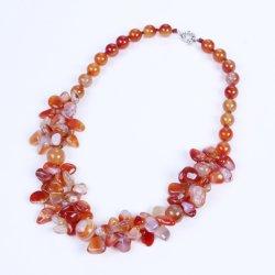 تصميم عقد مع قطع الحلي الأحمر الحجر أجاتي مجوهرات لبيع الهدايا