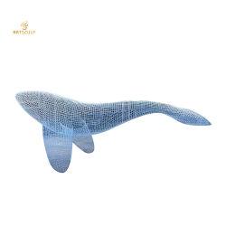 Design personalizado Grande Parque decoração água escultura de Baleia em aço inoxidável