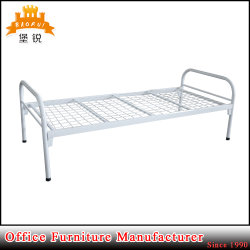 FAS-086 Kd Furniture Iron Round Tube Frame Metal Single Bed