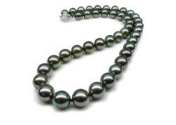 Seeperle Tahitian schwarze Perlen-Halskette