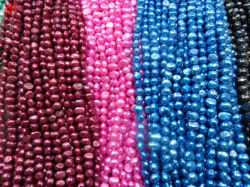 8-9mm AAマルチColor Nugget Freshwater Pearl Strands