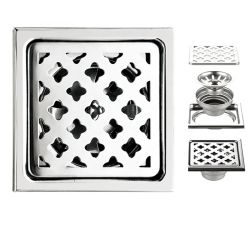 Novo Design de duche fácil de limpar acessórios / Tampa de drenagem no piso piso de aço inoxidável / Alumínio Drainer