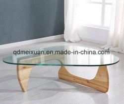 De Lijst van de Thee van de driehoek van Lijst van de Lijst van de Thee van Noguchi van de Lijst van de Thee van het Gehard glas de Creatieve Stevige Houten (m-X3580)