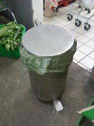 O aço inoxidável caixote do lixo do compartimento para o pó pode utensílio sanitárias