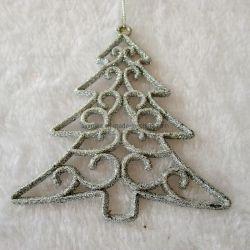 Рождество пластиковые дерево висящих украшений оформление дерева